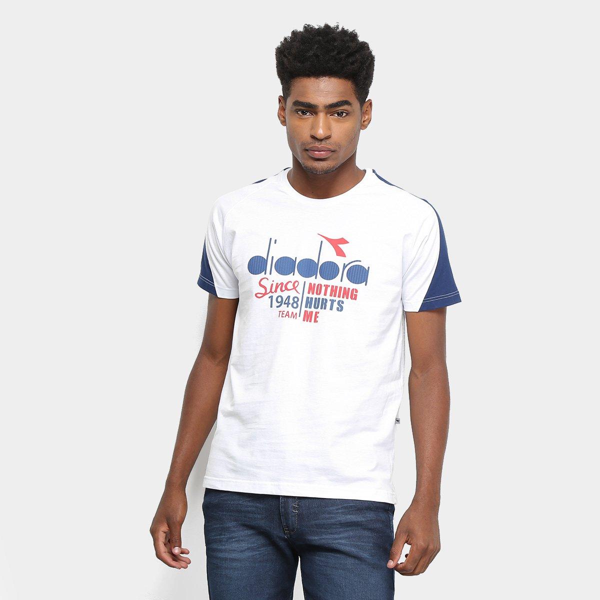 Camiseta Diadora Italy Masculina Branco