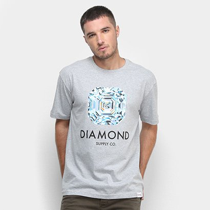 Camiseta Diamond Asscher Cut Masculina