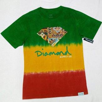 Camiseta Diamond Ethiopian Tie Dye Masculina