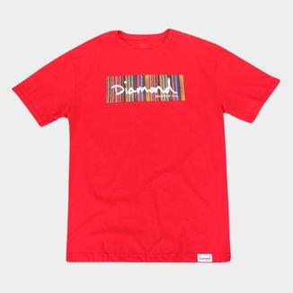 Camiseta Diamond Plus Size Color Ply Box Logo Masculina