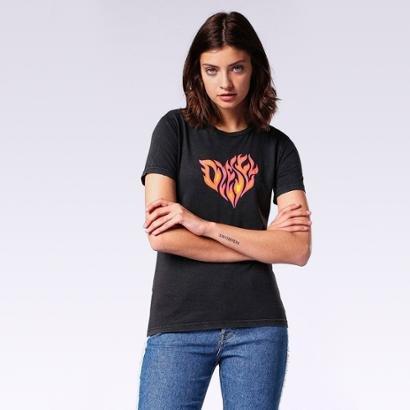Camiseta Diesel T-Sily-H Feminina-Feminino