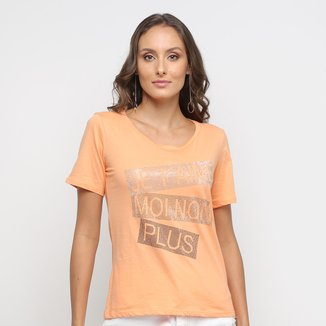 Camiseta Disparate Estampa Metalizada Feminina