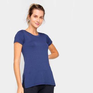 Camiseta Dooplex Alongada Fenda Feminina