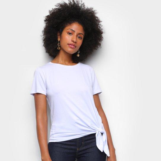Camiseta Dooplex Amarração Feminina - Branco