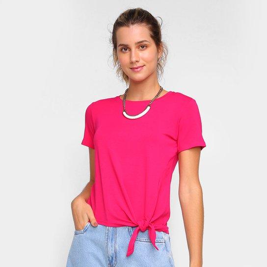 Camiseta Dooplex Amarração Feminina - Pink