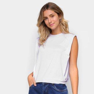 Camiseta Dooplex Moletinho Frisos Feminina