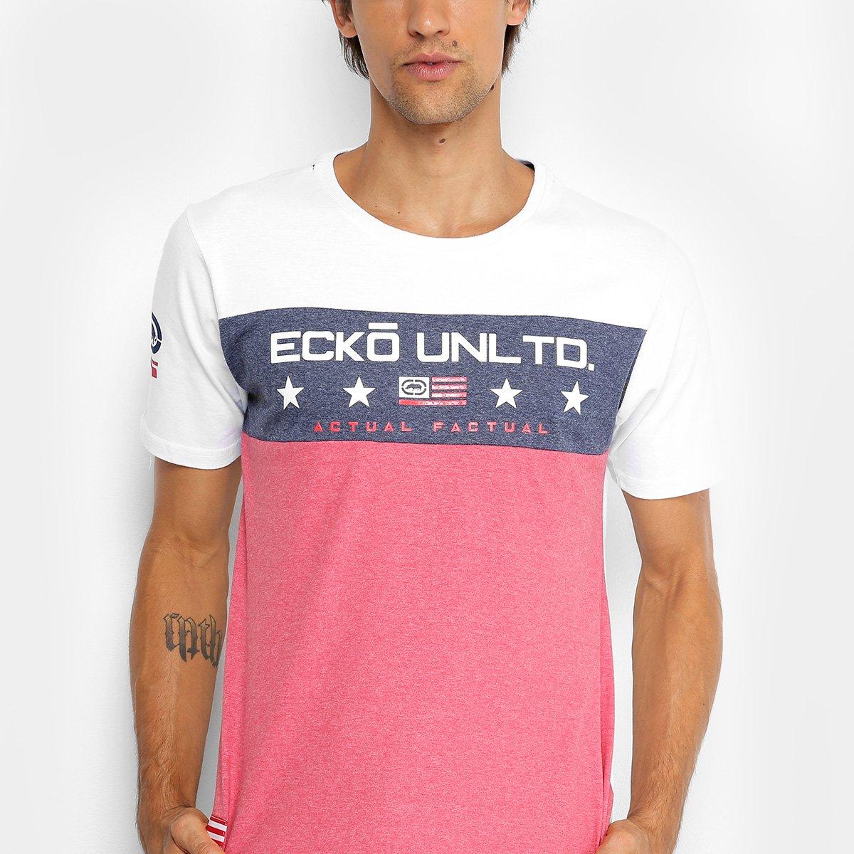 2bdff929dca Camiseta Ecko Especial Masculina - Branco - Compre Agora