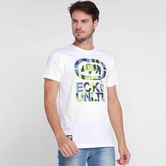 Camiseta Ecko Geométrico Neon Masculina