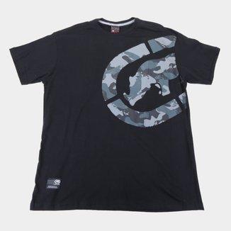 Camiseta Ecko Logo Camo Plus Size Masculina