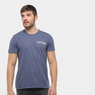 Camiseta Ed Hardy Surf Logo Sun Masculina
