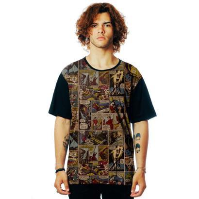 Camiseta ElephunK Estampada Geek Marvelous