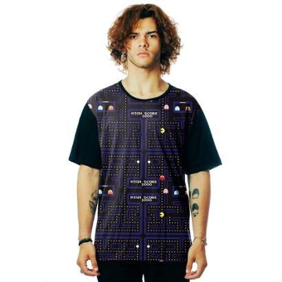 Camiseta ElephunK Estampada Geek Pacman Atari Tumblr