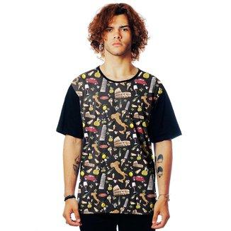 Camiseta ElephunK Estampada Italy Itália Europa