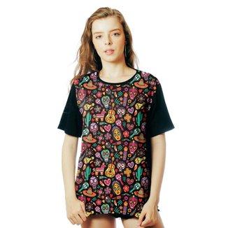 Camiseta ElephunK Estampada México Cultura Mexicana