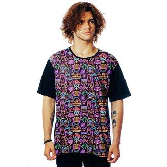 Camiseta ElephunK Estampada México Neon Mexicana
