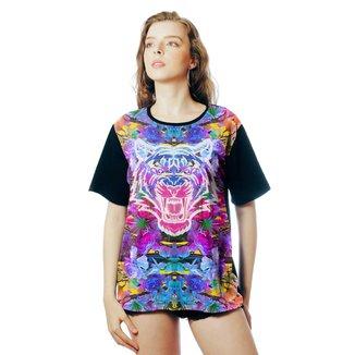 Camiseta ElephunK Estampada Neon Tiger