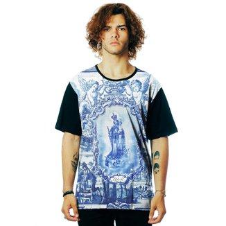 Camiseta ElephunK Estampada Santa ejos Portugueses