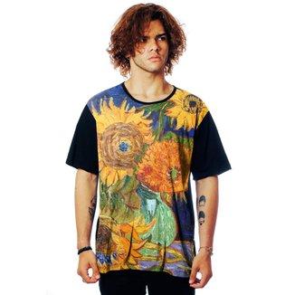 Camiseta ElephunK Estampada Van Gogh Sunflowers Girassóis