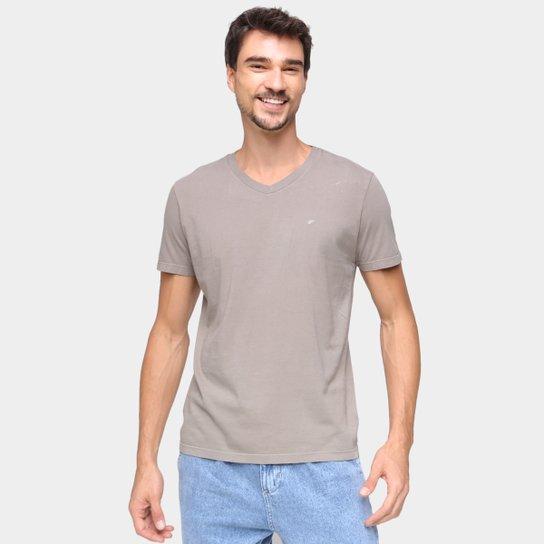 Camiseta Ellus Básica Manga Curta Masculina - Cinza