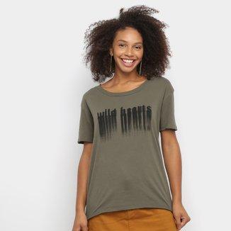 Camiseta Ellus Wild Hecrts Básica Feminina