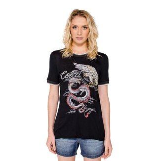 Camiseta Estampa Dragão Colcci