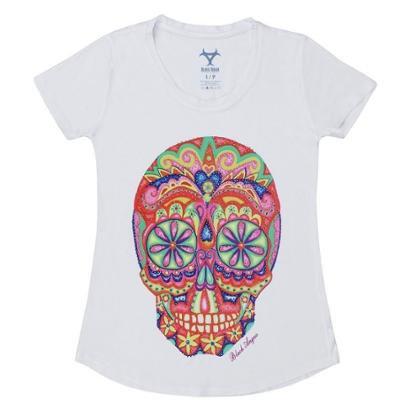 Camiseta Estampa Sugar Skull Black Angus Feminina