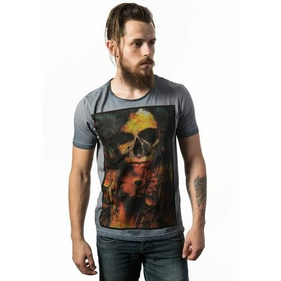 Camiseta Estonada Skull Lab Love Skull