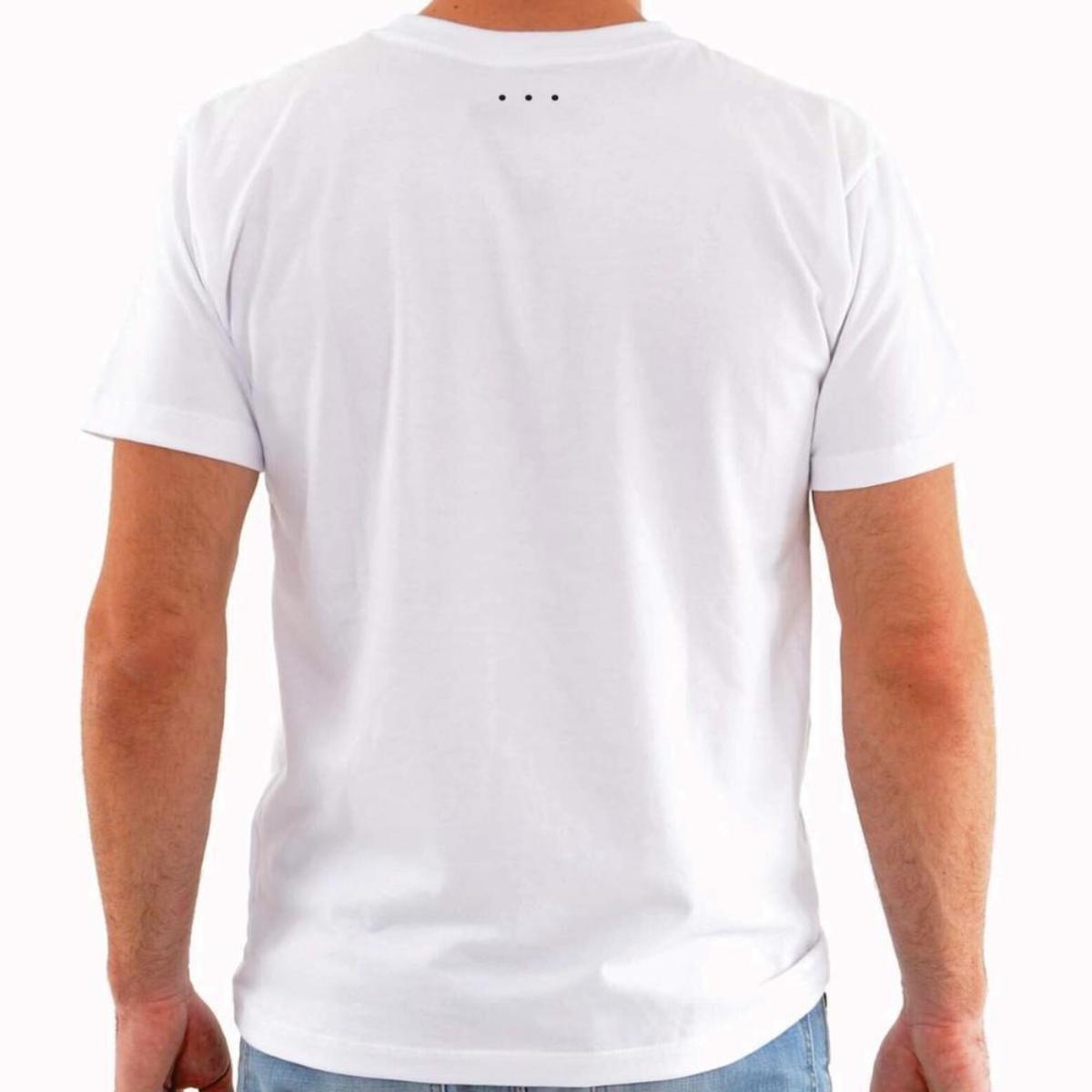 Camiseta etc.brand Problem Frase Gola Redonda Masculina - Branco