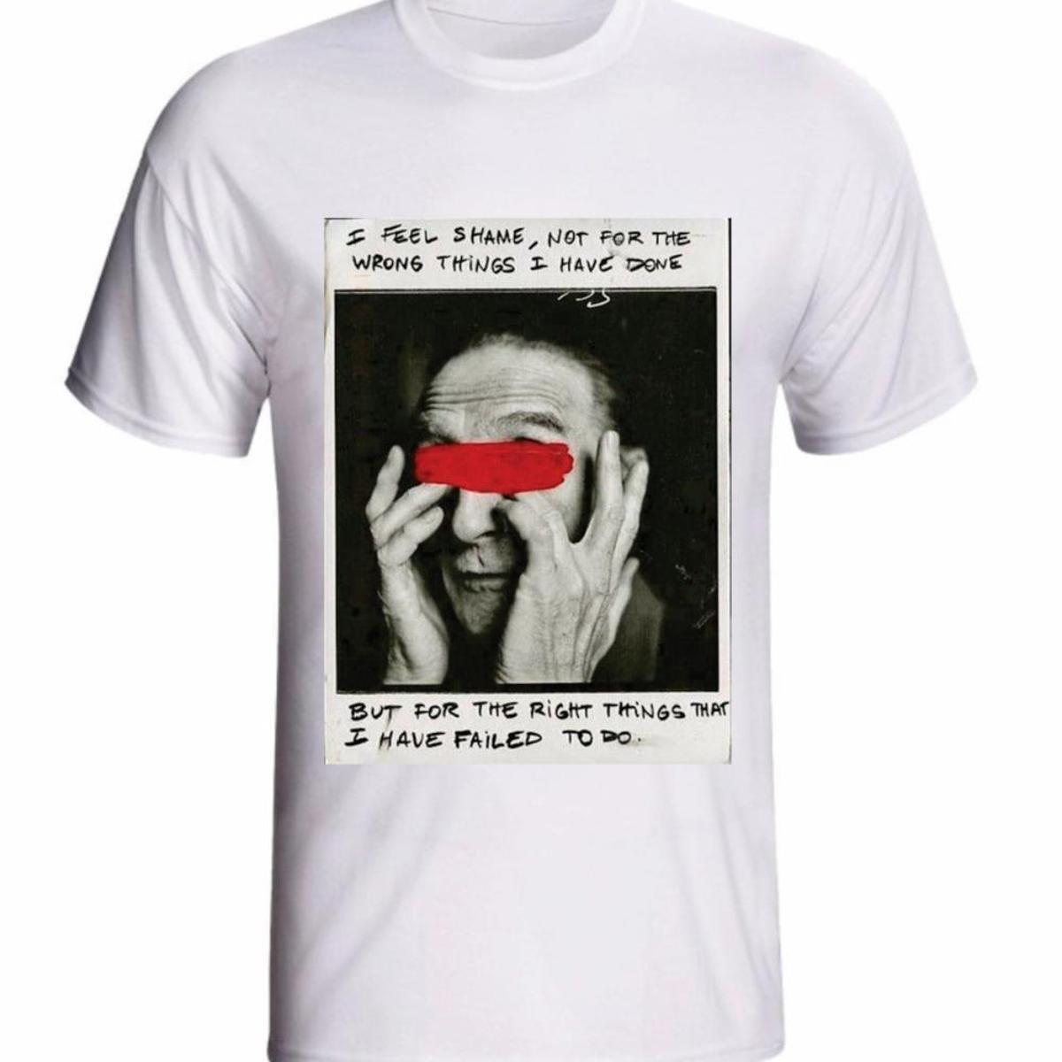 Camiseta etc.brand  Shame  Básica Estampa Masculina - Branco