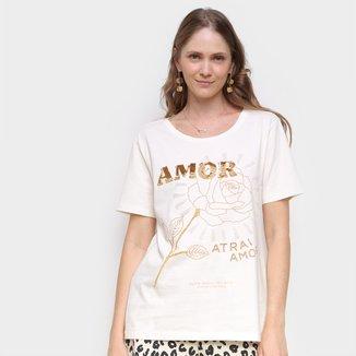 Camiseta Farm Amor Atrai Amor Feminina