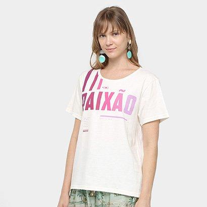 Camiseta Farm Desejo Paixão Feminina