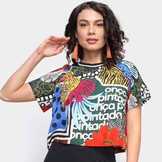 Camiseta Farm Mix Selvagem Feminina