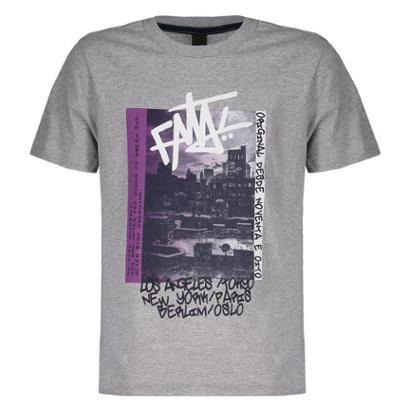 Camiseta Fatal Downtown Estampada Juvenil Masculina