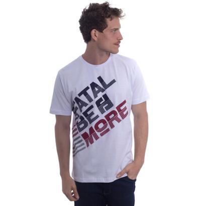 Camiseta Fatal Estampada be More Branca Masculino