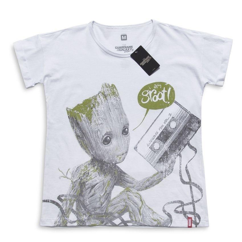f05bb03063 Camiseta Feminina Marvel Baby Groot Fita - Compre Agora