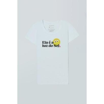 Camiseta Feminina Mundo Bita Luz do Sol Reserva Feminino-Branco