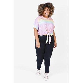Camiseta Feminina Plus Tie Dye
