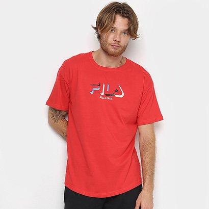 Camiseta Fila 3D Masculina Masculino-Vermelho