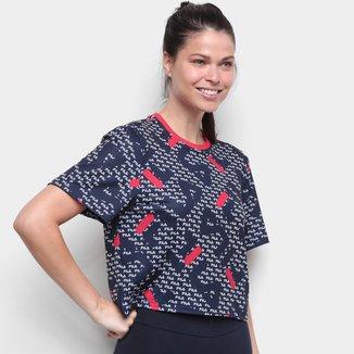 Camiseta Fila Cropped Full Aqua Trek Feminina