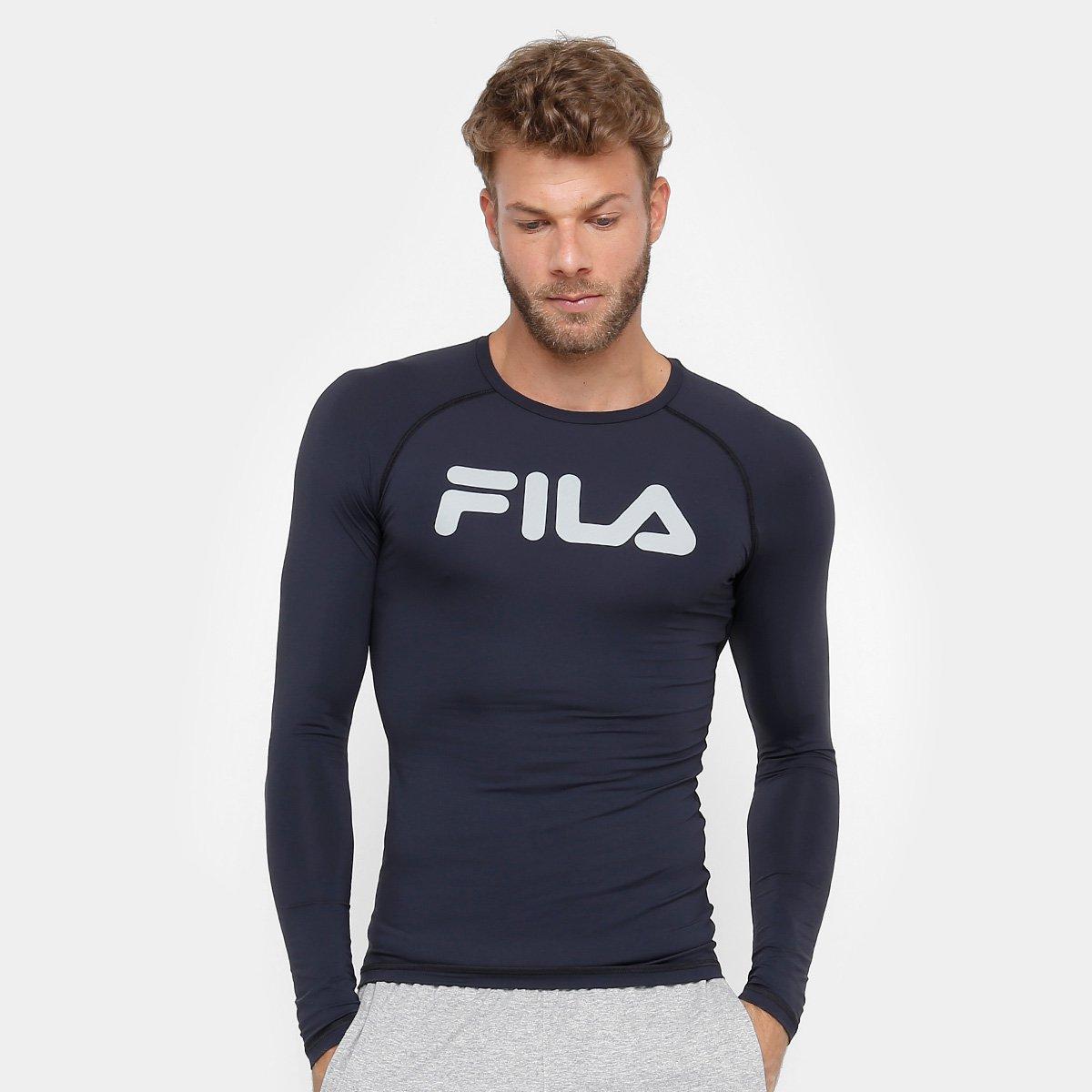 Camiseta Fila Step Ns Manga Longa Masculina - Compre Agora  8b623a04f6637