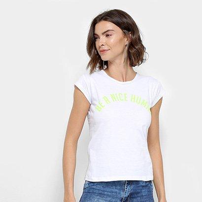 Camiseta Flora Zuu Be A Nice Human Feminina-Feminino