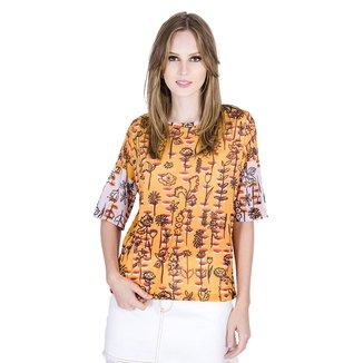 Camiseta Floral Cantão