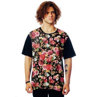 Camiseta Floral ElephunK Estampada Itália Florida
