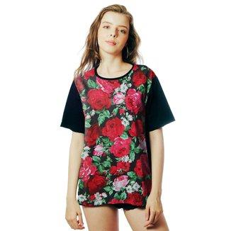 Camiseta Floral ElephunK Estampada Mônaco Florida