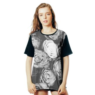 Camiseta Floral ElephunK Estampada PB Off Florida