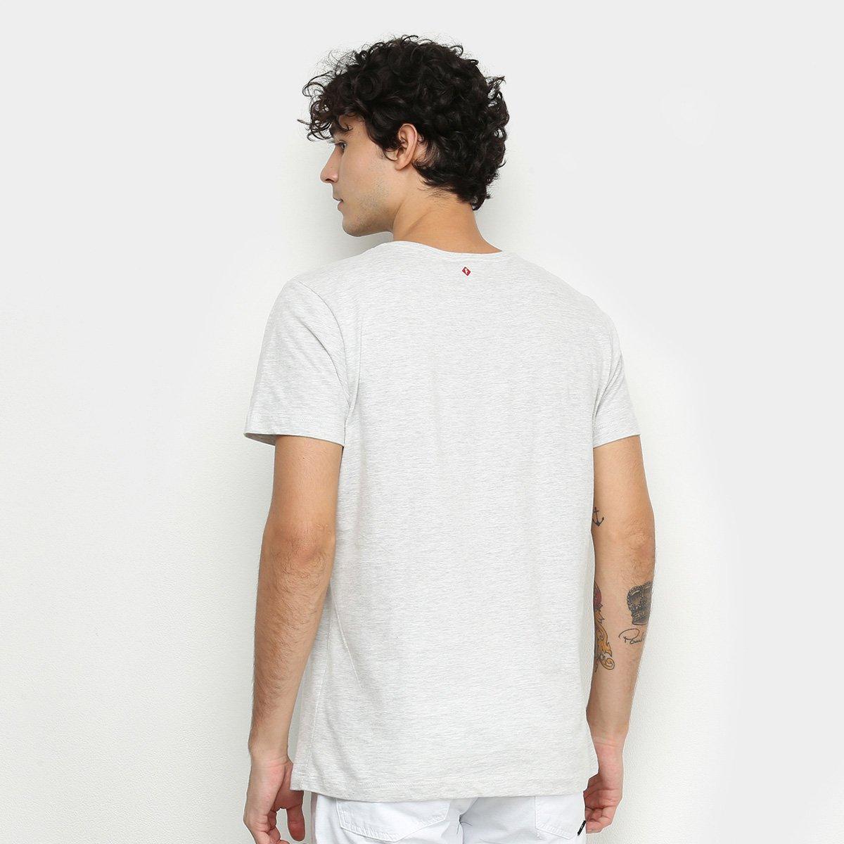 Camiseta Forum Básica Original Clothing Masculina - Mescla Claro