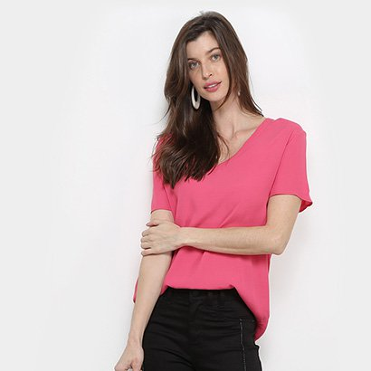 Camiseta Forum Gola V Básica Feminina