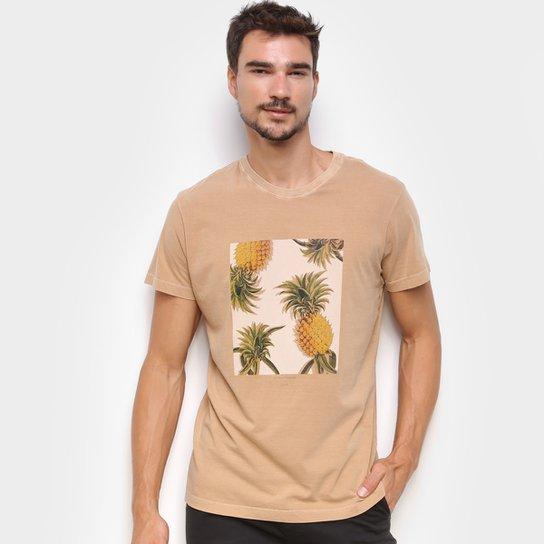 Camiseta Foxton Abacaxi Masculina - Cáqui