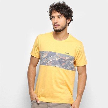 Camiseta Gajang Faixa Camuflada Masculina
