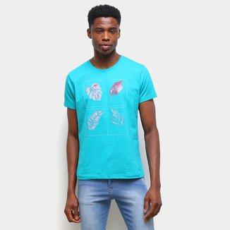 Camiseta Gajang Folhas Masculina